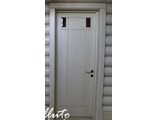 Белая дверь из массива (глухая)